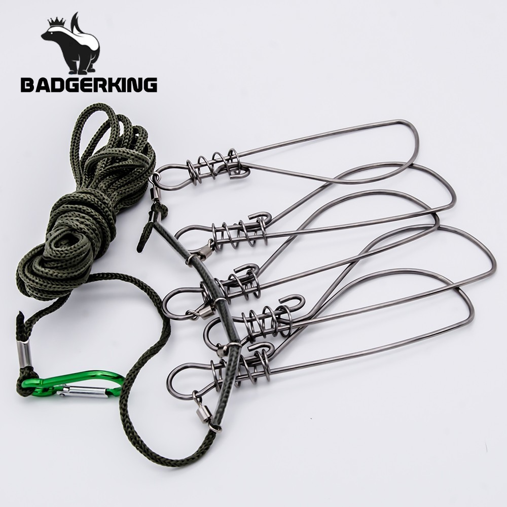 5 Meters Kukan Fish Lock Fly Fishing Accessories  Stainless Steel Fish Holder Sea River Outdoor Sport Camping  Fishing Tackle