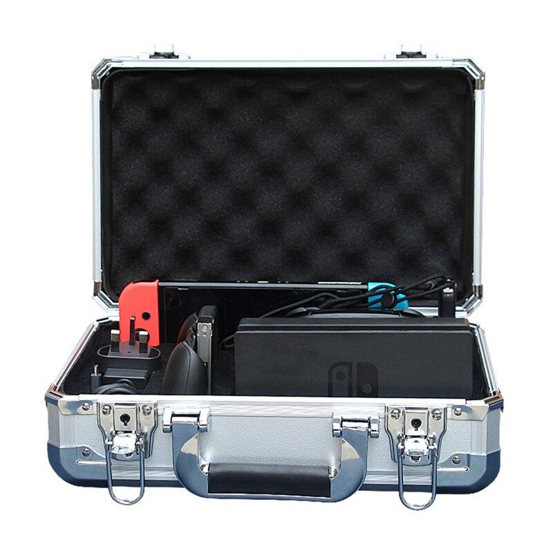 Nouvelle coque rigide en alliage d'aluminium sac de rangement de transport étanche pour Nintendo Switch Ns accessoires de Console