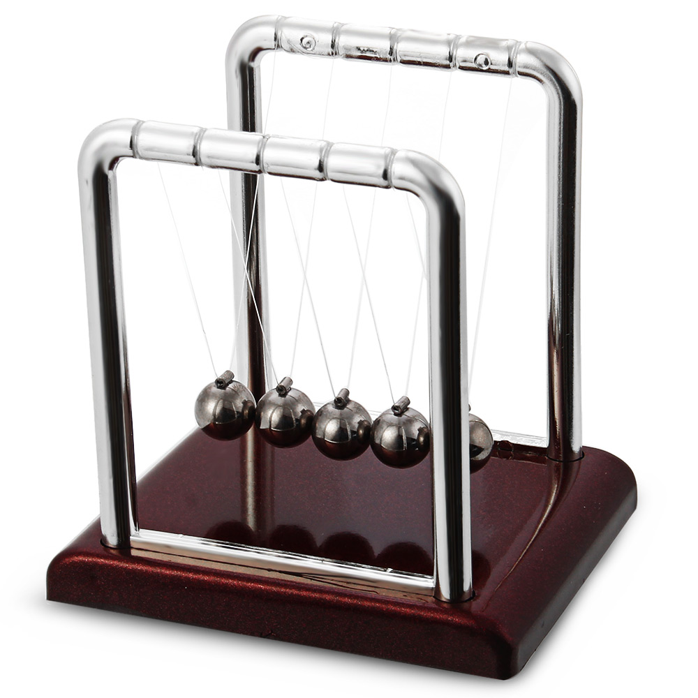 Newton Cradle Steel Balance Ball Physics Science Pendulum Desk Table Decor Toy School Early Childhood Education Supplies Home