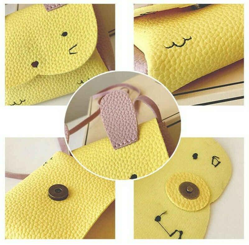 Enfants enfants filles chat fourre-tout sac à main épaule Messenger sacs bandoulière portefeuille