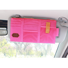 Car-styling Car Sun Visor Card Package Holder Multifunction In-Car Pocket Organizer Pouch Bag Auto Tidying Accessories