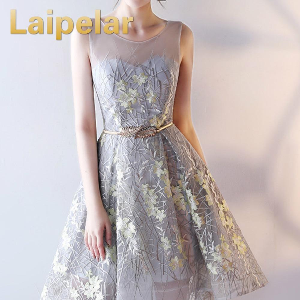 Laipelar Prom Dresses Vestido Festa Elegant Party Dress สำหรับ Ball จัดเลี้ยง Scoop คอ Appliques A Line ตาข่าย 2019-ใน ชุดเดรส จาก เสื้อผ้าสตรี บน AliExpress - 11.11_สิบเอ็ด สิบเอ็ดวันคนโสด 1