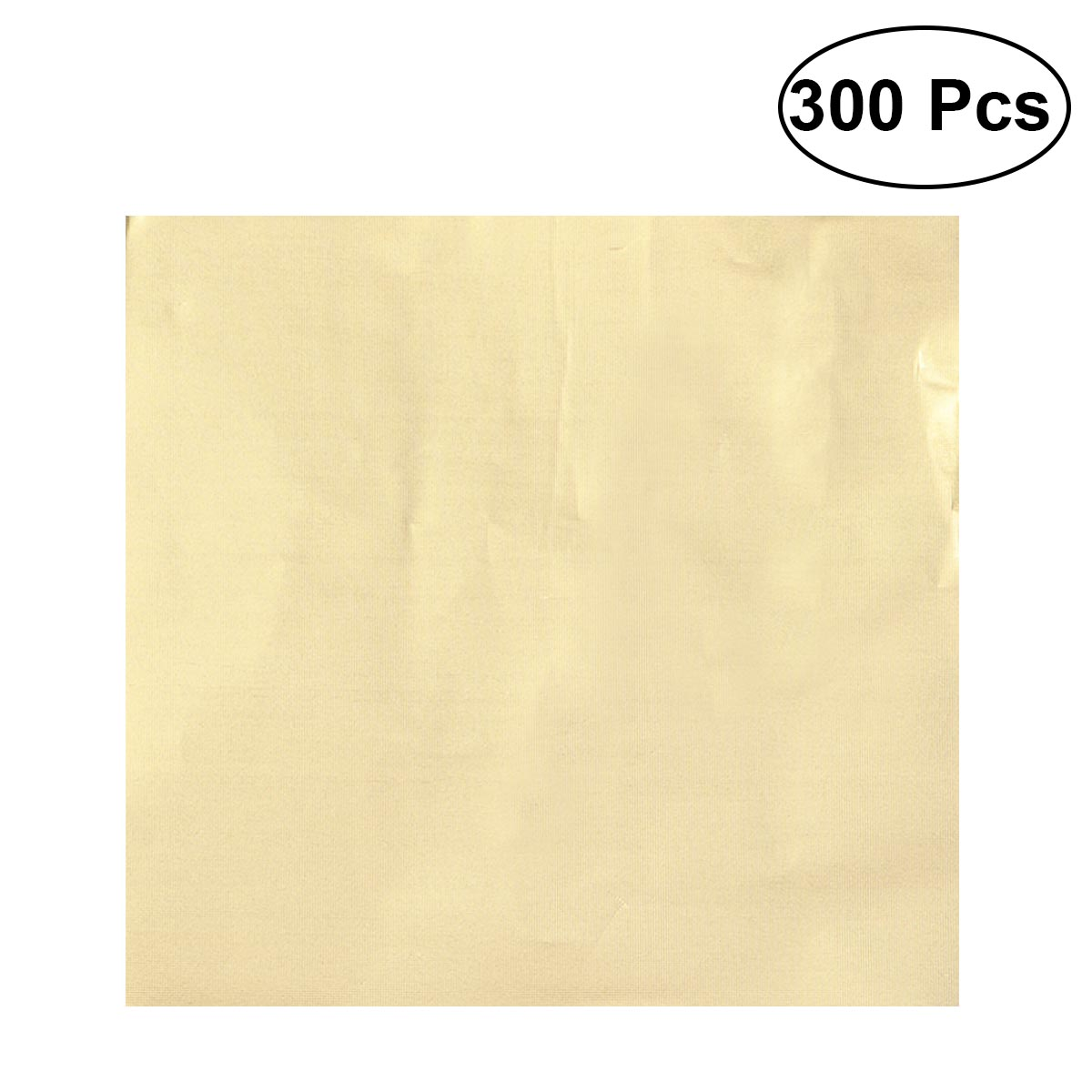 300pcs Food Grade Nontoxic Practical Gold Gift Wrap Storage Paper Aluminum Foil Embossing Paper For Chocolate Candy Sweetmeat