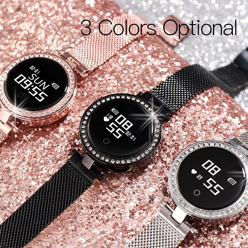 X10 Female Watch Fashion Crystal Diamond Ladies Bracelet Quartz Female Casual Clock Gifts for Wife GF in Smart Wristbands from Consumer Electronics