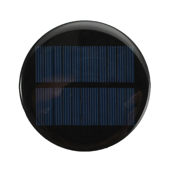 6V 2W 0.35A Solar Power 80MM DIY Mini Polycrystalline Silicon Solar Cell Module Circle Round Solar Panel Epoxy Board 3