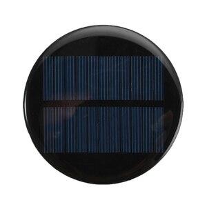 Image 3 - 1/5/10 Uds 6V 2W 0.35A de energía Solar 80MM DIY Mini policristalino célula Solar de silicio para círculo ronda Panel Solar epoxi tablero