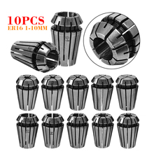 10pcs ER16 Spring Collets 1mm-10mm Spring Clamping Chuck Set for Industrial CNC Workholding Engraving & Milling Lathe Tools