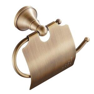 Image 1 - Porte serviettes Portable en laiton, Bronze Simple, Antique, étagère de rangement pour la salle de bain, rouleau de papier, porte papier hygiénique