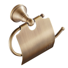 Toilet Paper Holder Paper Rack Portable Brass Simple Bronze Antique Household Bathroom Towel Roll Paper Storage Rack Toilet