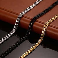 Vnox Classic Chain Necklace 24/30 inches for Men Long Necklace 3/5/7MM Wide Titanium Steel DIY Jewelry