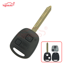 цена на Kigoauto 2 Buttons Keyless Entry Fob Remote Key for Toyota RAV4 Corolla Yaris 433MHZ With 4D67 Chip Inside TOY47 Uncut Blade