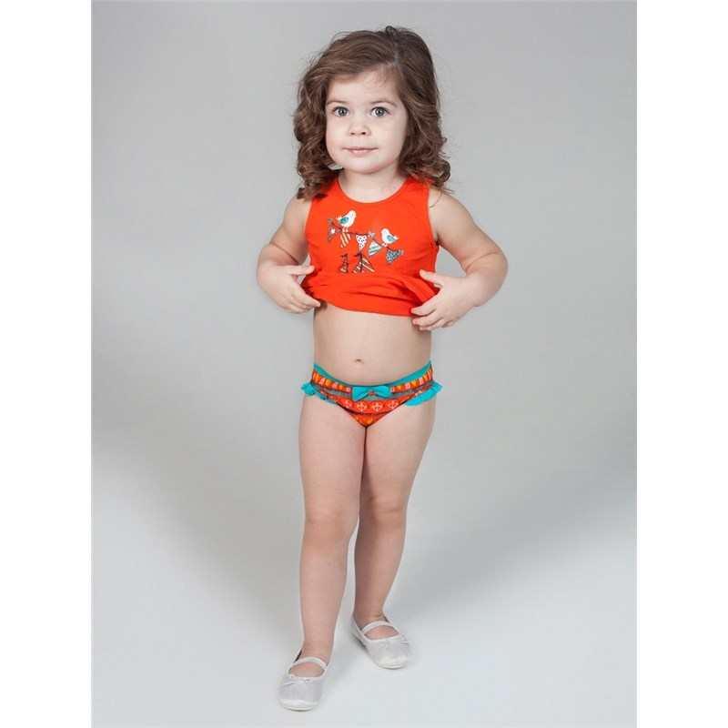 [Available with 10.11] Swimming Trunks swimwear for girls lace up dragon printed swimming trunks