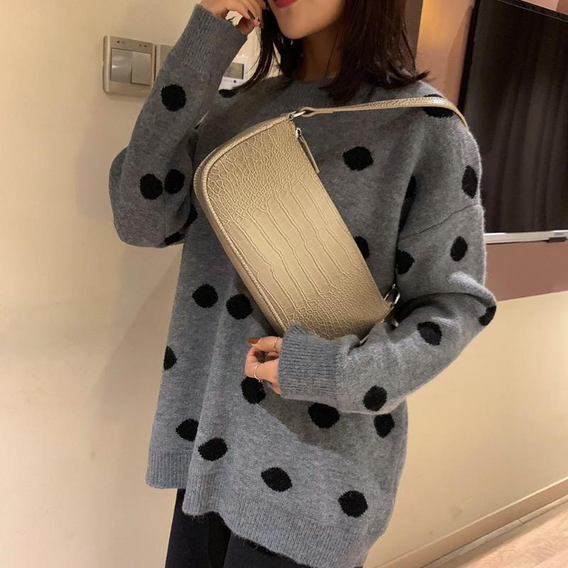 Retro Alligator Pattern Women Messenger Handbags Casual Solid Shoulder Bags for women 2019 Split Retro Crocodile Bolsas