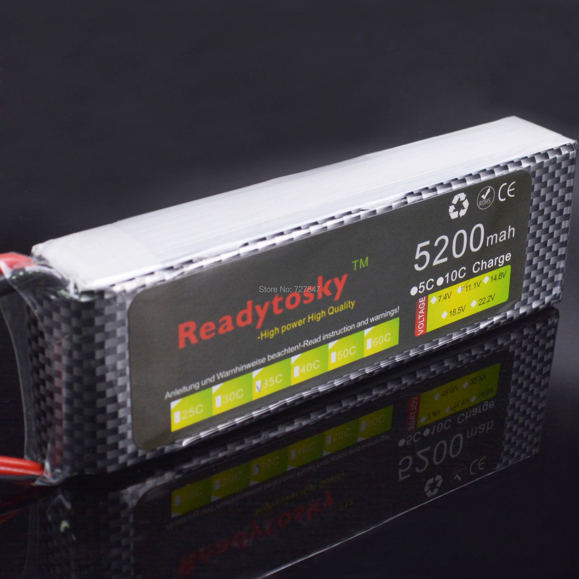 LiPo batterie 3 S lipo batterie 11.1 v 5200 mAh 35C rc hélicoptère rc voiture rc bateau quadrirotor télécommande jouets li-polymère batterie