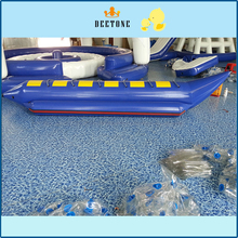 Single row 6 seater PVC inflatable banana boat water drag game with free inflatable pump цена в Москве и Питере