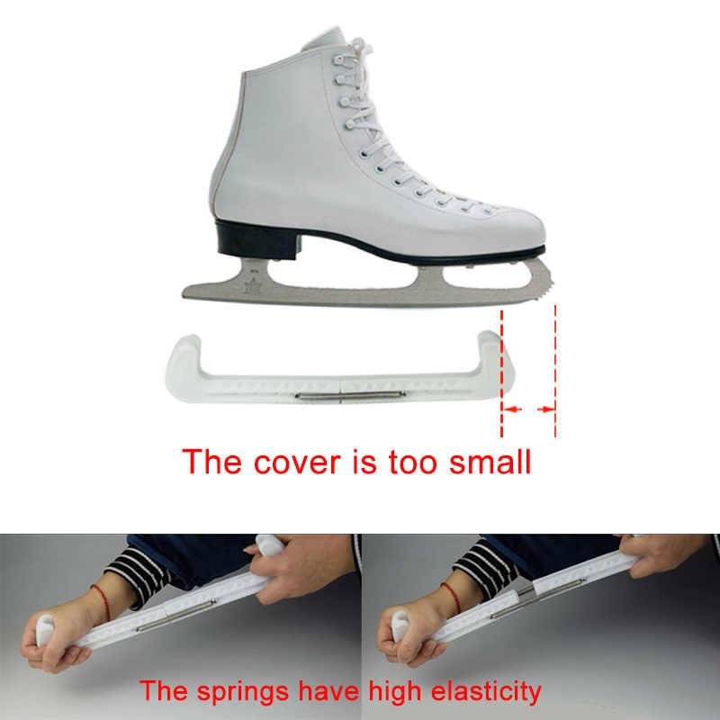 LIOOBO Elastic Skate Boot Covers Soft Velvet Ice Skate Shoe Sleeve Anti-scratch Skate Shoe Protector for Hockey Skates Figure Skates Size L Green