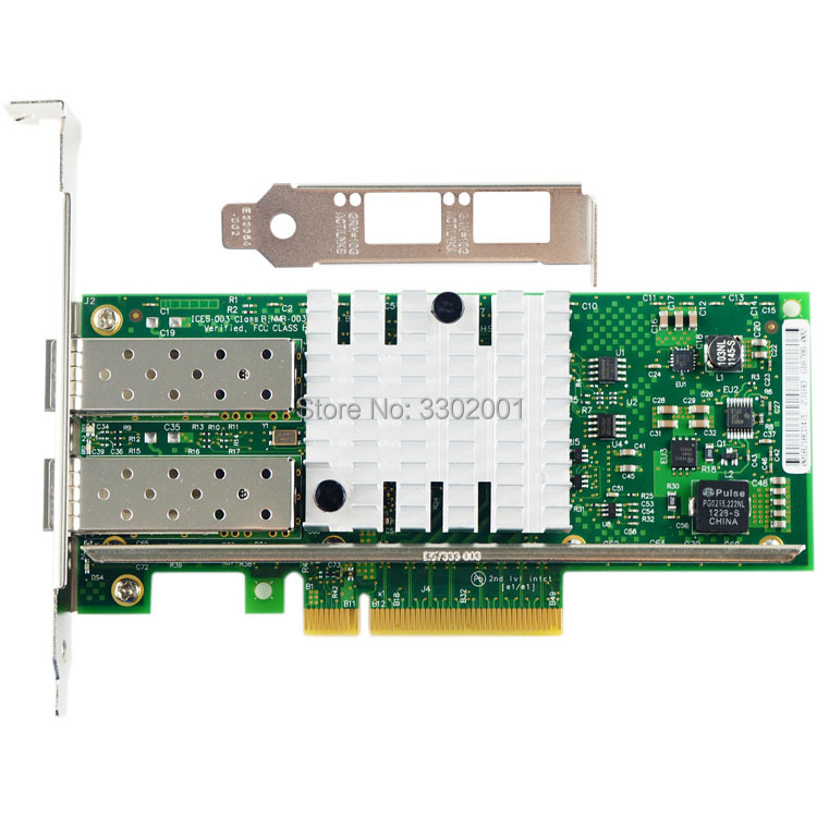 Image 2 - FANMI  X520 DA2 10GBase PCI Express x8 82599ES Chip Dual Port Ethernet Network Adapter E10G42BTDA,SFP not included-in Network Cards from Computer & Office