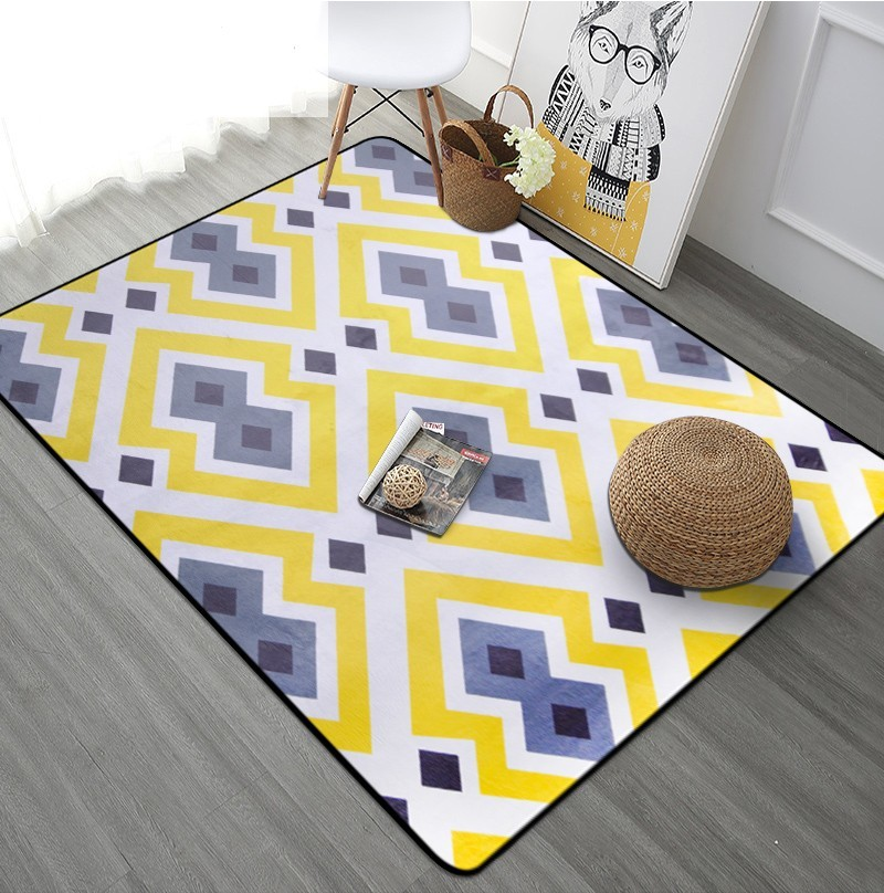 Tapis géométriques nordiques salon chambre étude chevet tapis moderne décor vitrine Rectangle tapis ménage Yoga couverture tapis - 6