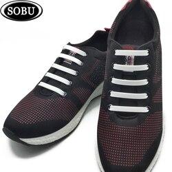 12 pçs/lote NOVA Cadarços Elásticos de Silicone Não-Amarrar Cadarços De Silicone para Todos Os Tênis Criativo Cadarços de sapatos Para sapatos de mulher /homens G001