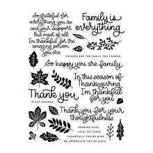 Leaves/English Transparent Clear Silicone Stamp/Seal for DIY scrapbooking/photo album Decorative clear stamp