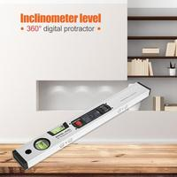 360 Degree 400mm Digital Angle Finder Level Spirit Level Upright Inclinometer with Magnets Protractor Angle Slope Tester Ruler