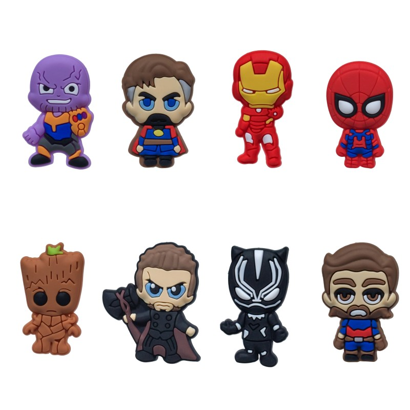 Glorious 8pcs/lot Avenger Infinity War Cartoon Pvc Charm Stationery Hero Magnetic Stickers Blackboard Magnets Kids Gift Party Favors Drip-Dry Office & School Supplies
