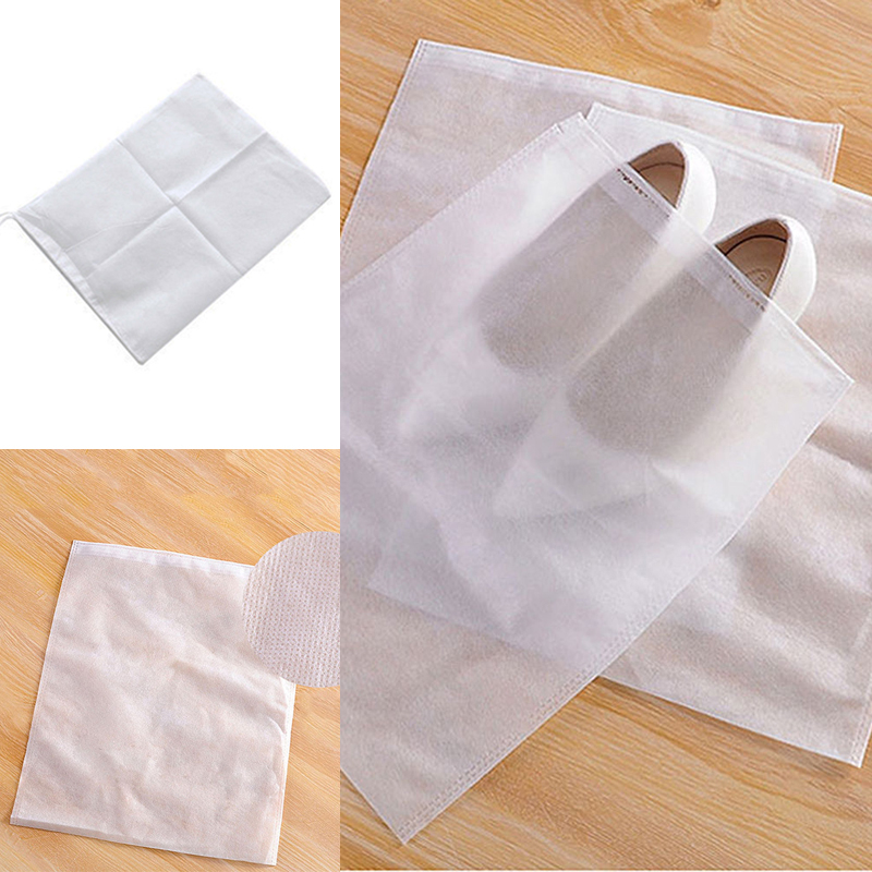 12Pcs Non-Woven Shoe Dust Cover Drawstring Shoe Storage Bag Travel Storage Bag Dust Shoe Bag