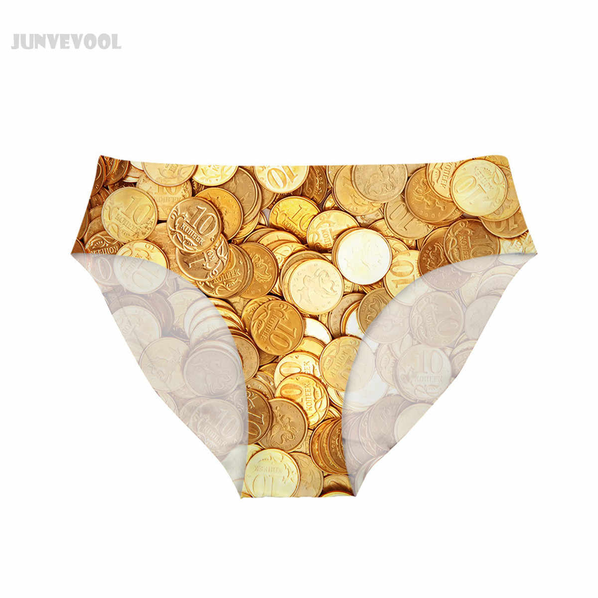 91bd948094 ... Women Sexy Panty Womens Seamless Underwear Money Gold Coin Print  Lingerie Bottom Intimo Mid-rise ...