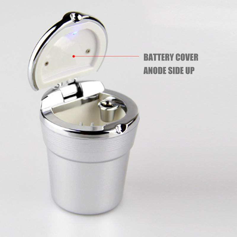 Image 4 - Car Cigarette Ashtray With Blue LED Light Indicator Portable Bling Smokeless Cylinder Cup Holder For Most Vehicles-in Car Ashtray from Automobiles & Motorcycles