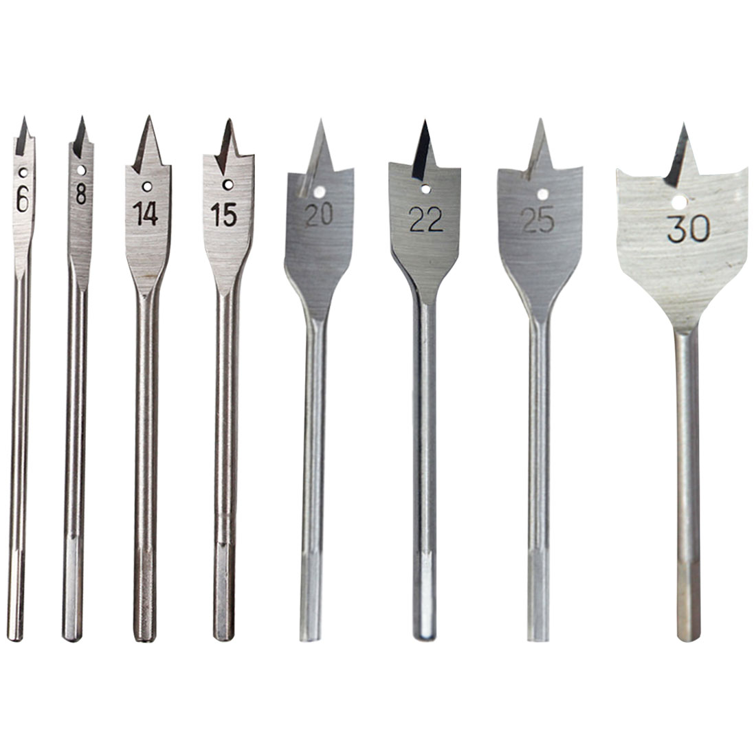 High-carbon Steel 6-30mm Drill Wood Flat Drill Set Woodworking Spade Drill Bits Durable Woodworking Tool Sets Spade Drill Bit
