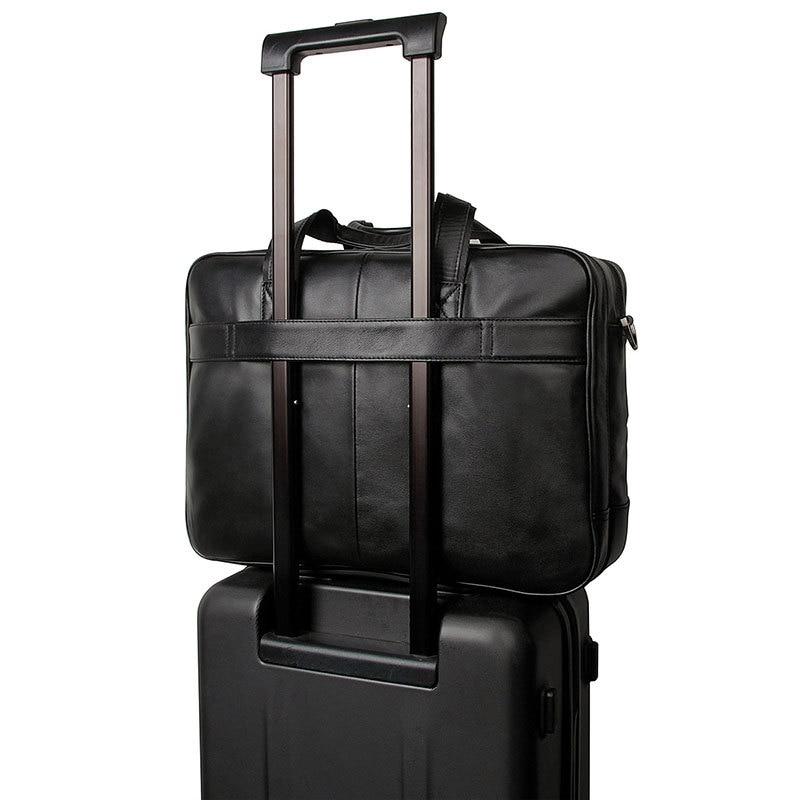 17 Leder Schicht Männer Black Business Computer Aktentasche 725 Tasche Große Zoll Handtasche Top Messenger 40 rYEqxY