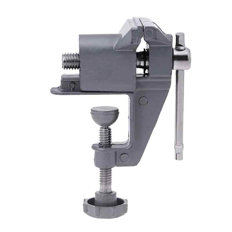 Universal 30mmiMini Bench Vise Aluminium Alloy Table Screw Vise Bench Clamp Screw Vise for Craft Mold Fixed Repair Tool Electric