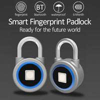 P2 Fingerprint Smart lock Keyless Lock Waterproof For bluetooth Phone APP / Fingerprint Unlock Anti Theft Padlock Door Lock