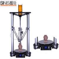 Made in China Sinis T1 3d Printer DIY Kit House hold Delta 3d Printer Multi functional Laser Engraver 3d Printer Metal Machine