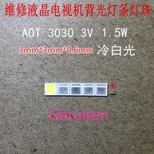 2000PCS AOT תאורה אחורית מתח גבוה LED 1.5W 3V 3030 94LM מגניב לבן LCD תאורה אחורית עבור טלוויזיה יישום EMC 3030C W3C3 aot