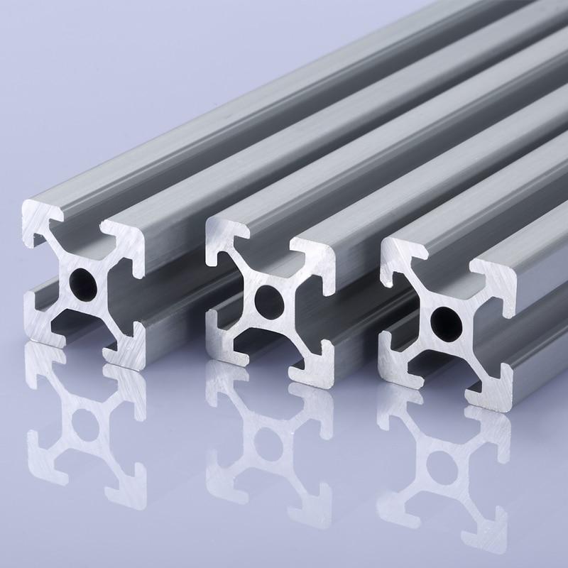 2pcs/lot 2020 Aluminum Profile 2020 Extrusion European Standard Anodized Linear Rail Aluminum Profile 2020 CNC 3D Printer Parts