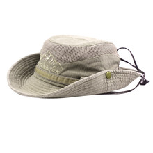 Fishing Hat Cotton Mesh Cap UV Protecting Sunhat Beach Hat Shade Hat for Cycling Outdoor Activities Boating Camping Hiking(China)