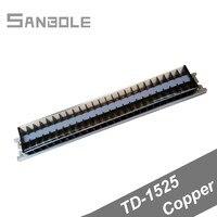 Kupfer TD 1525 Kombinieren Verbindung Dual Reihe Terminal block DIN schiene 25P 15A/600V mit schrauben Streifen Barriere|Klemmleisten|   -