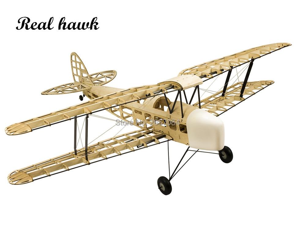 RC Plane Laser Cut Balsa Wood Airplane Kit Baru TigerMoth DH-82 Frame tanpa Kit Cover Model Kit