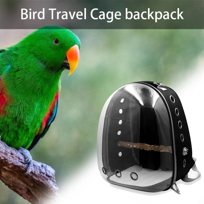 Nouveau perroquet sortie sac à dos respirant Transparent espace Capsule voyage Cage mode Pet sac à dos fournitures pour animaux de compagnie de haute qualité