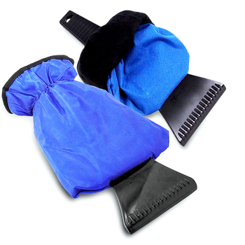 Car Ice Scraper Mitt Winter Warm Car Windshield Snow Shovel Glove