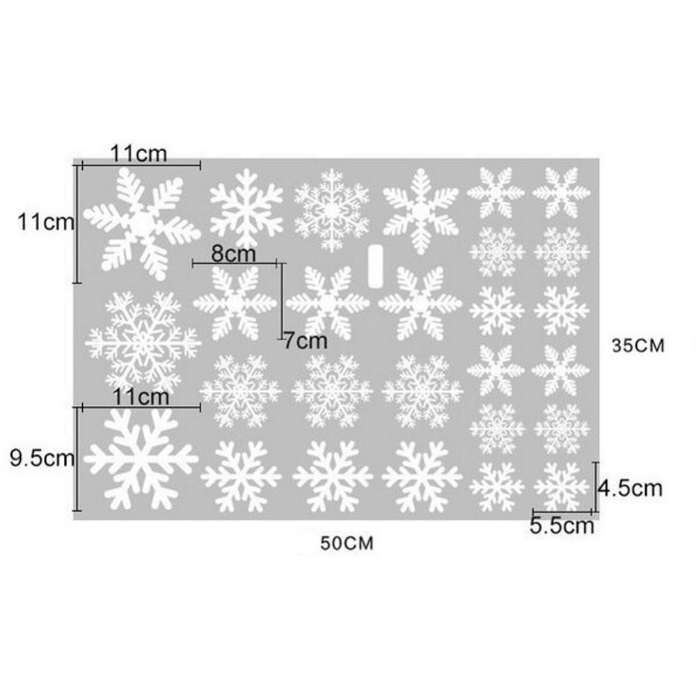Image 3 - Pack Of 1set Christmas Decorations For Home Snowflake Sticker Merry Christmas Ornaments Pendant For Home Window Decoration-in Pendant & Drop Ornaments from Home & Garden