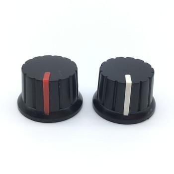 5 sztuk czarny plastikowy przełącznik czapki 24x15mm pokrętła potencjometru przełącznik enkodera wałek Plum D osi wału tanie i dobre opinie Plastic