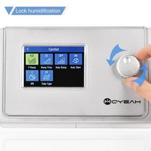 Image 2 - Moyes Auto CPAP/APAP جهاز التنفس 20A لتوقف التنفس أثناء النوم OSA مكافحة الشخير التنفس الصناعي مع واي فاي الإنترنت المرطب CPAP قناع