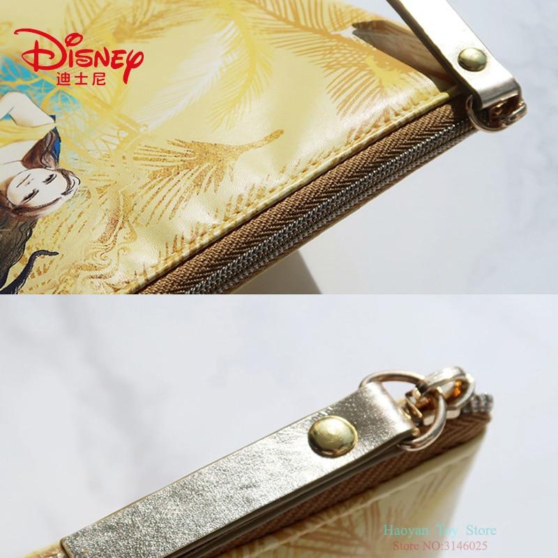 Купить с кэшбэком Genuine Disney Beauty and the Beast Series Orange Fashion Mommy Bag Multi-function Women Bag Wallet Purse Bag For Girls Gifts
