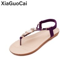 Big Size Summer Women Sandals Bohemia Female Shoes Vintage Ladies Flip Flops New Arrival Beaded Flat Footwear Sexy Thongs bohemia shoes pinch sandals summer new beaded shoes page 1