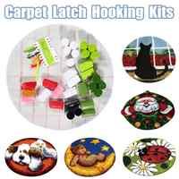 Papai noel cão agulha trava gancho tapete kit inacabado crocheting bordado tapete artesanal tapetes sala de estar