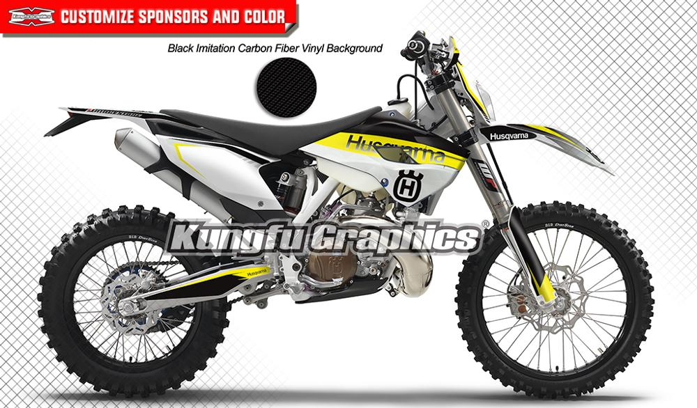 KUNGFU GRAPHICS Vinyl Wrap Motorcycle Decals Enduro Sticker Kit for Husqvarna TE FE TC FC 125