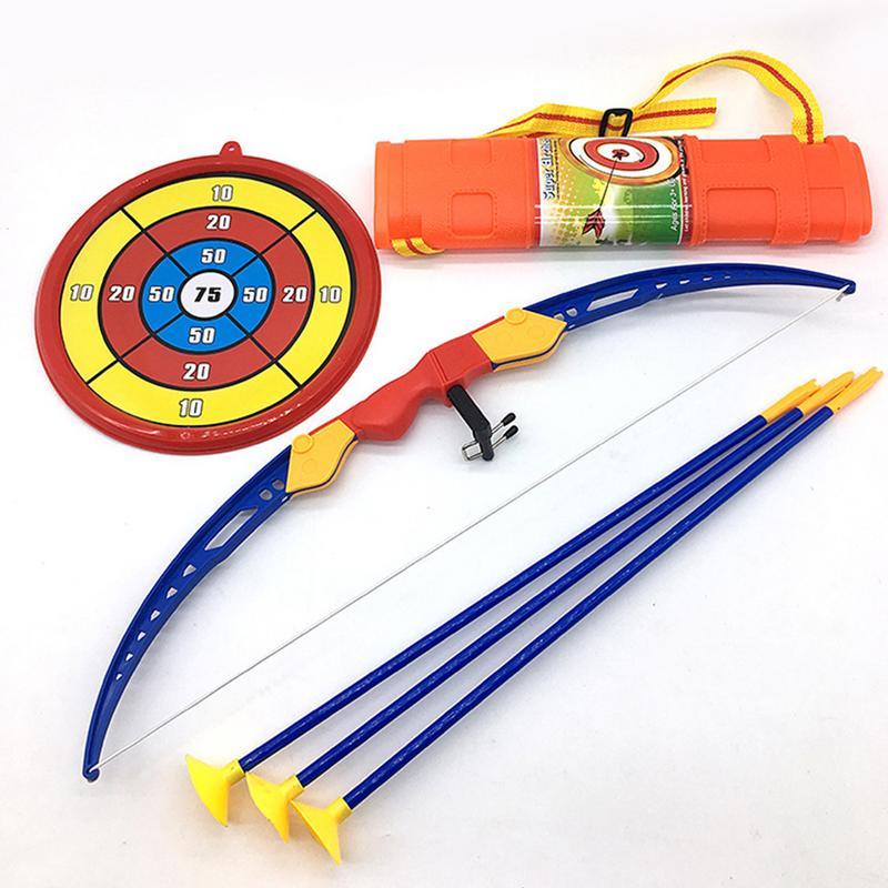 54 cm grandes niños juguete arco y flecha de Tiro con Arco objetivo tiroteo conjunto de jardín al aire libre juego divertido seguro divertido juguete