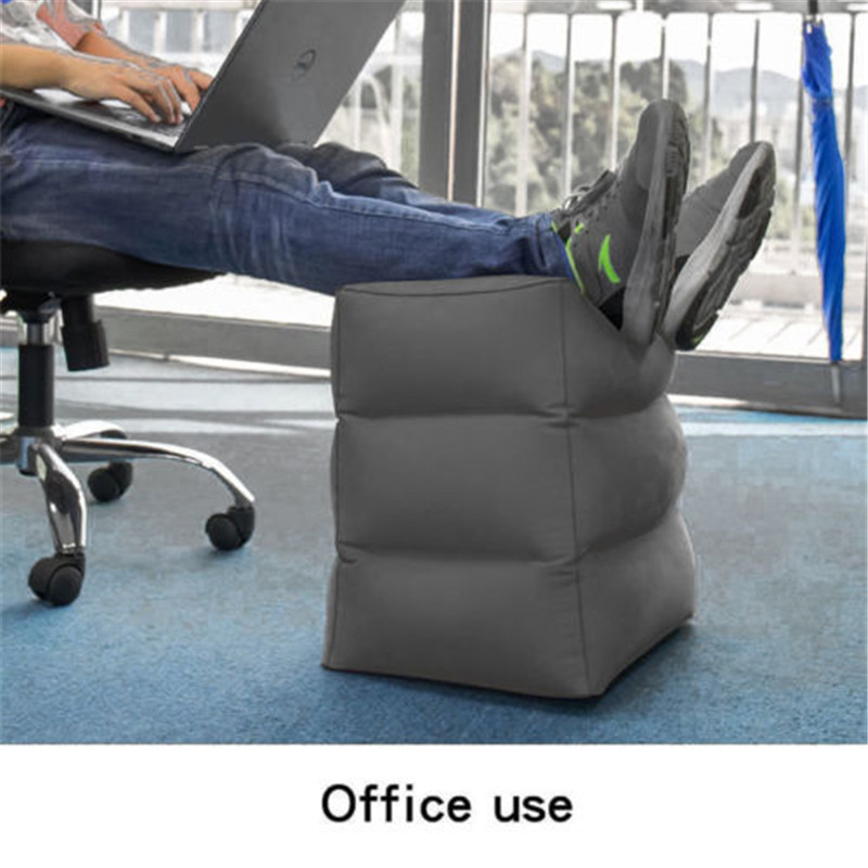 Inflatable Foot Rest Travel Air Pillow Cushion Washable
